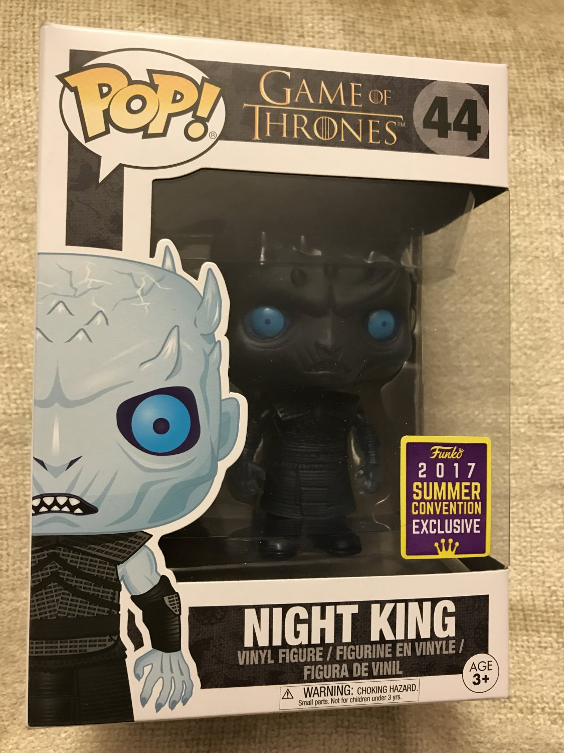 SDCC 2017 Funko Pop Night King Game of Thrones Exclusive