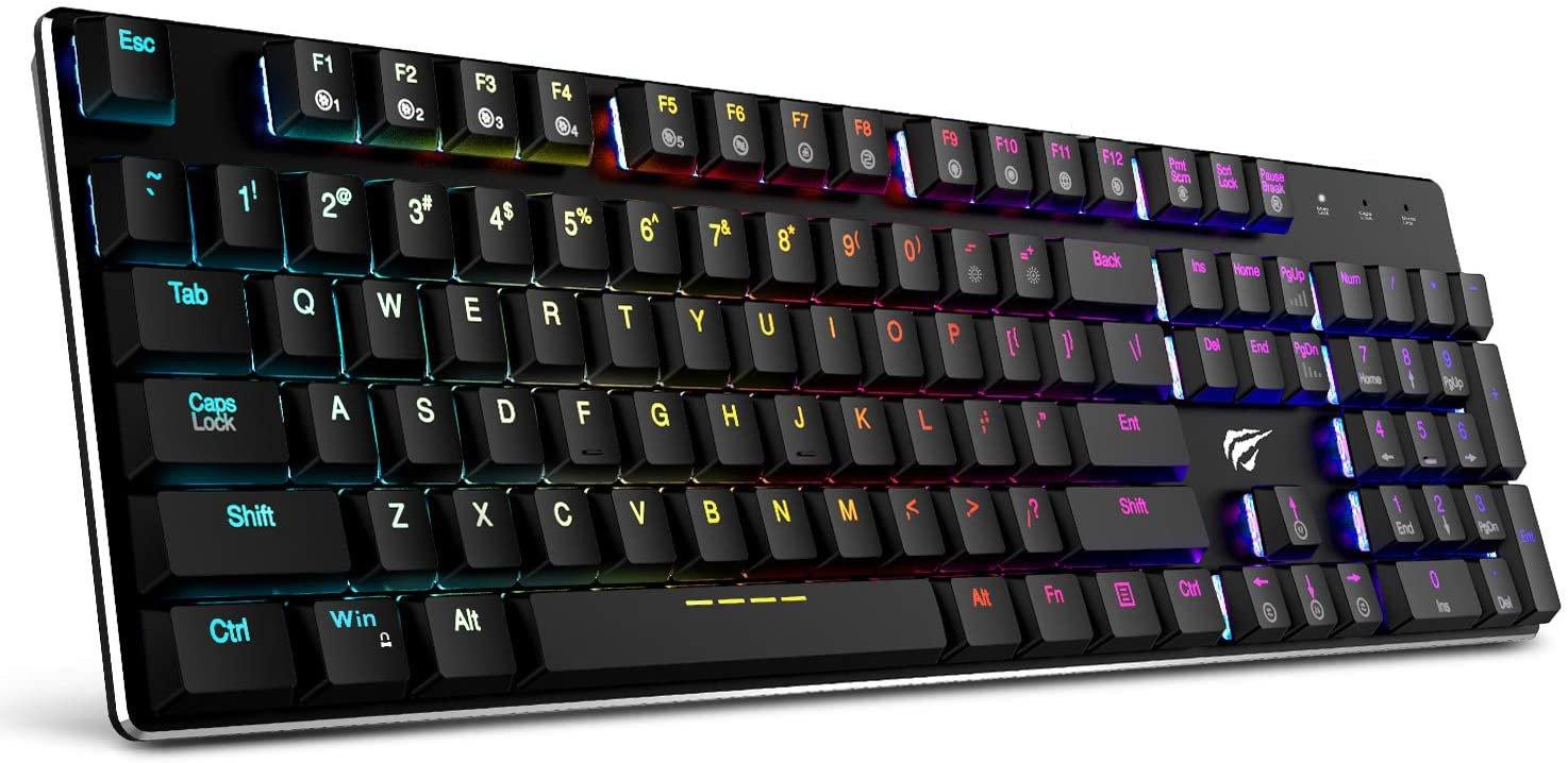 HAVIT 104 Key Mechanical Keyboard RGB Backlit Wired Gaming Keyboard HV-KB395L