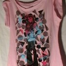 Pink Hannah Montana Shirt Top Large 11/13 New