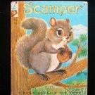 Scamper Squirrel Elf Marjorie Barrows Tamburine Vintage