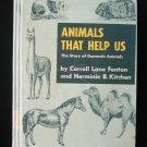 Animals That Help Us Fenton Kitchen Domestic Vintage HC