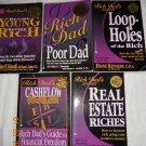 Rich Dad Poor Dad series of books, 5 total!!