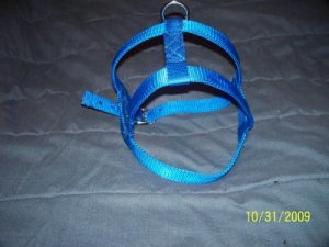 Extra Large Blue Dog Harness USA Tough Metal Hardware