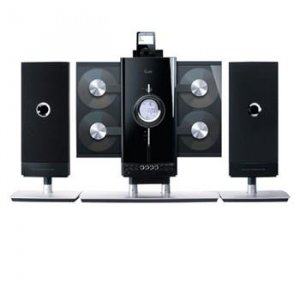 iLuv 4-CD Hi-Fi Audio System with iPod Docking Station - JWin I9200-BLK