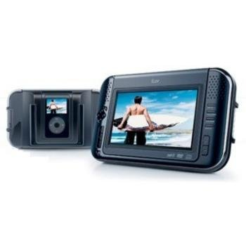 jWIN i1055BLK 7 Inch Tablet-Style DVD Player w/ Ipod Capabilities