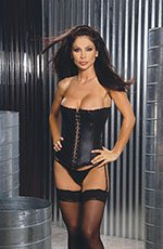 Leather strapless corset