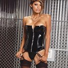 Zip up vinyl corset