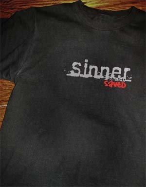 Sinner Saved T-shirt Size Large