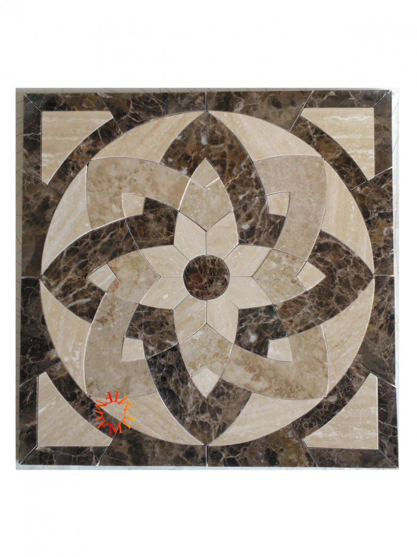 24 X24 Floor Tile Marble Medallion 8002