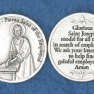 St. Joseph the Worker (for unemployed) Pocket Coin M-246