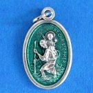 St. Christopher Green Enamel M-220