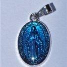 Miraculous Medal - Blue Enamel 3/4 inch M-169