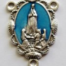 R-44 Our Lady of Fatima Blue Rosary Centerpiece