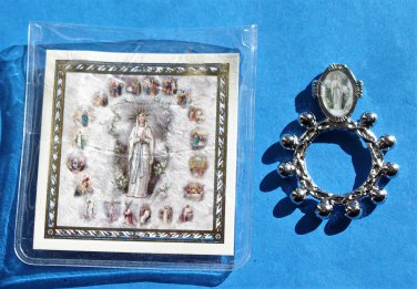RR-17 Our Lady of Lourdes Rosary Ring