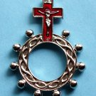 RR-21 Red Crucifix Rosary Ring