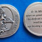 St. Michael Forged In Stone Pocket Token M-358