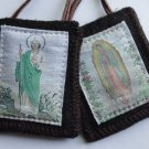 St. Jude / Our Lady of Guadalupe Woven Medallion Wool Scapular S-22