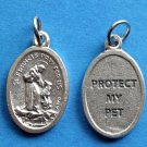 St. Francis of Assisi Protect My Pet Medal M-337
