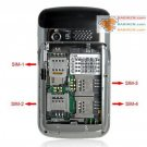 4 SIM Card Slots Cell Phone w/ four sim standby phone F160