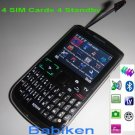 Low Price! QWERTY Keyboard 4 SIM 4 Standby TV Unlocked Mobile Phone H9700
