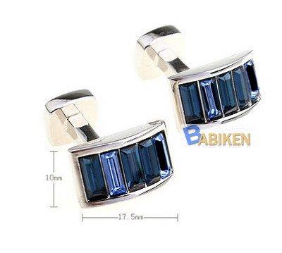 Elegant Blue Purple Crystal Arch Wedding Cuff Links Cufflinks