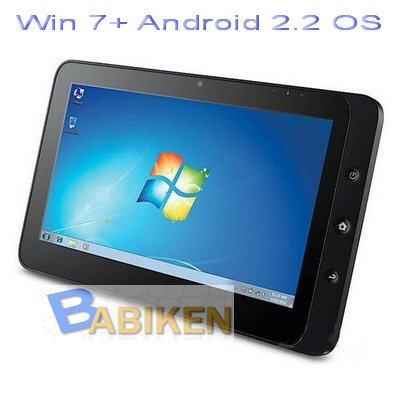 """10.1"""" Dual OS Windows7+Androi�d2.2 Tablet PC with 3G"""