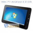 """10.1"""" Dual OS Windows7+Android2.2 Tablet PC with 3G"""