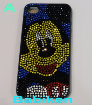 Apple Iphone 4G Mickey Bling Hard Case Pretector Back Cover