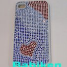 Heart Bling Iphone 4 Hard Case Protector Back Case for Iphone