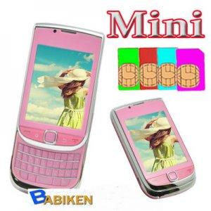 Babiken MINI 9800 Unlocked 4 SIM Quadband TV Mobile Phone-- Free shipment