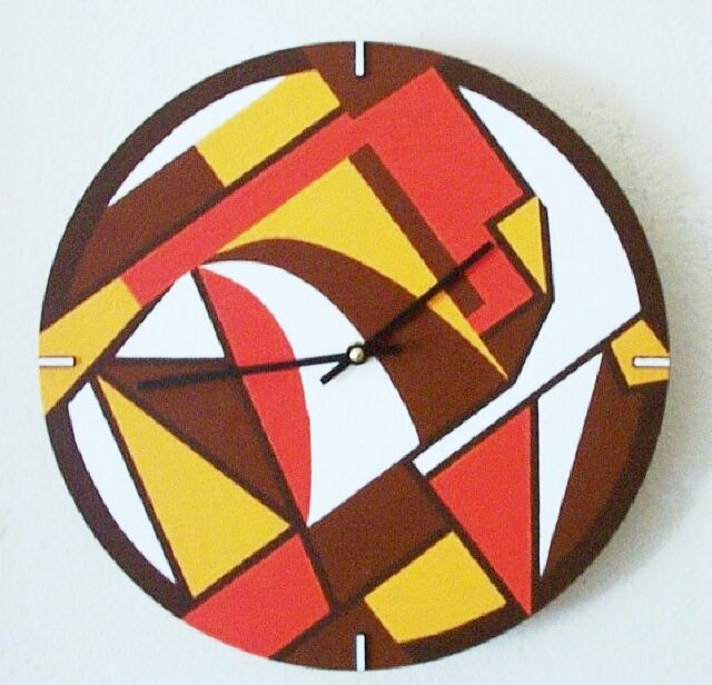 Wall Clock Art Deco Design