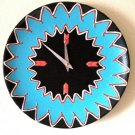 WALL CLOCK-CERAMIC-SOUTHWEST DESIGN