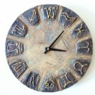 RUSTIC WALL CLOCK-ZODIAK DESIGN