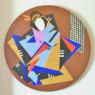 WALL CLOCK-ABSTRACT  ORIENTAL DESIGN