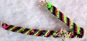Black, Purple, Pink & Green Swarovski Chrystal Bracelet