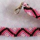 Pink & Black ZigZag Bracelet