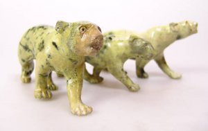 "African Leopards in Leopard Rock ""Mbada"" Shona Art~ Zim"
