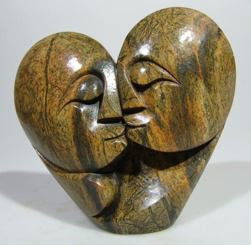 Quot two lovers shona stone sculpture from zimbabwe