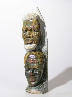 """Chief & Wife Totem"" Shona Art Sculpture from Zimbabwe!"