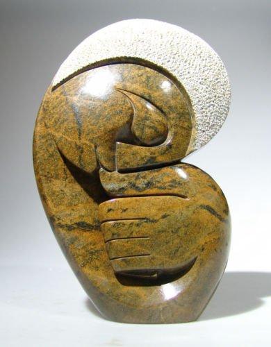 """Sucking Thumb"" Shona Serpentine Stone Art ~ Zimbabwe!"