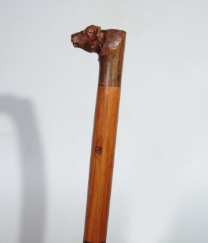 Buffalo Head Iron Wood/Mukwa Wood Walking Stick / Cane Handmade in Zimbabwe!