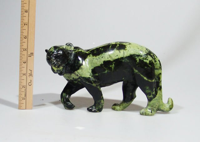 "Large ""African Leopard"" Leopard Rock Shona Stone Sculpture Handmade in Zimbabwe!"