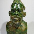 """""""Shona Chief"""" Verdite Shona Stone Sculpture Hand Carved - Zimbabwe! (M.Mangenda)"""