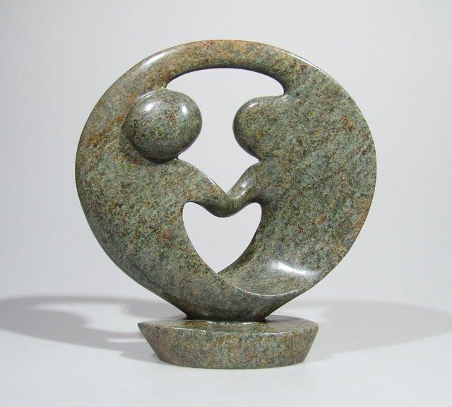 Quot lovers embrace serpentine shona stone sculpture hand