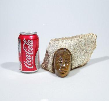"""Shona Sister""  Serpentine Shona Stone Sculpture Hand Carved in Zimbabwe!"