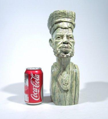 """The Zimbabwe Man"" Butter Jade Shona Stone Sculpture Hand Carved in Zimbabwe!"