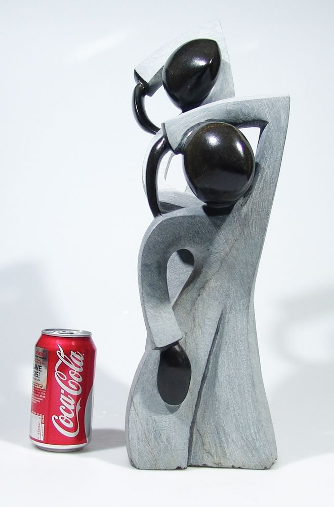 """Friends Dancing"" Large Springstone Shona Stone Sculpture Hand Carved ~Zimbabwe!"