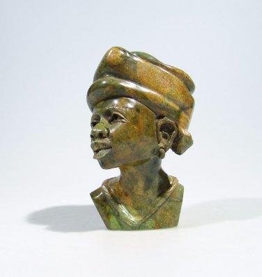 """Shona Lady""  Verdite Shona Stone Sculpture Hand Carved in Zim!babwe!"