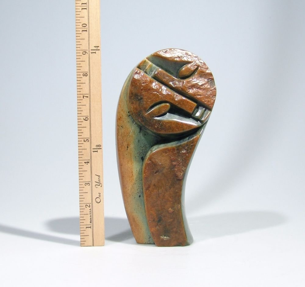 """""""Together"""" Serpentine Stone Sculpture Hand Carved in Zimbabwe by Abel. M"""