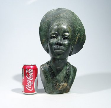 """""""Shona Daughter"""" by Faxon. Serpentine Stone Sculpture Hand Carved in Zimbabwe!"""